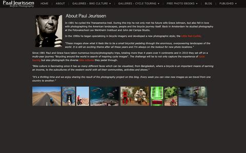 Screenshot of About Page zenfolio.com - Paul Jeurissen Bicycle Photography   About - captured July 6, 2018