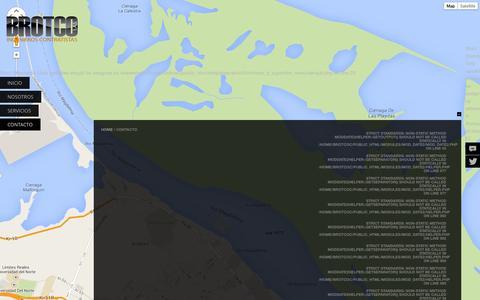 Screenshot of Contact Page brotco.com - CONTACTO - captured Oct. 4, 2014