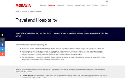 Travel and Hospitality - Moravia