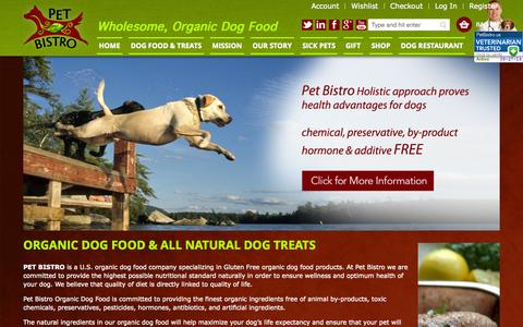 Screenshot of Home Page petbistro.us - Home page - captured Sept. 29, 2014