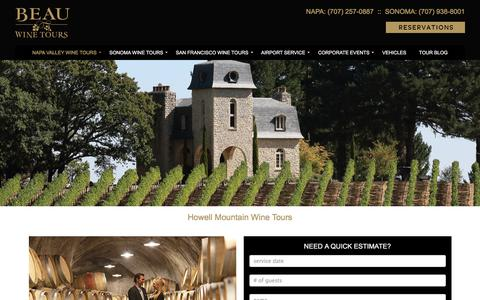 Howell Mountain Wine Tours and Tastings - Beau Wine Tours