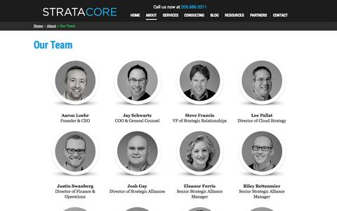 Screenshot of Team Page stratacore.com - About | Our Team | Stratacore - captured Sept. 30, 2014