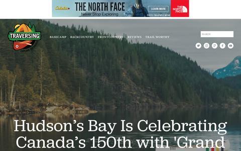 Screenshot of Press Page traversing.ca - Traversing - captured March 17, 2017