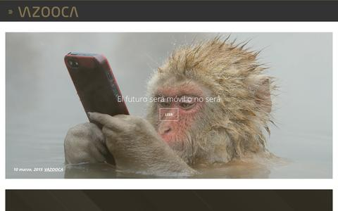 Screenshot of Blog vazooca.com - Blog | Dise�o digital, comunicaci�n e interiorismo - VAZOOCA - captured Jan. 10, 2016