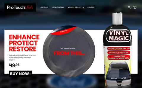 Screenshot of Home Page protouchusa.com - ProTouch USA - Vinyl Magic® Vehicle Restoration – ProTouchUSA - captured July 22, 2018