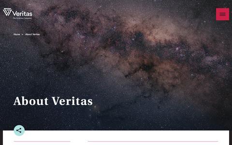 Screenshot of About Page veritasgenetics.com - About Veritas | Veritas Genetics - captured Jan. 30, 2018