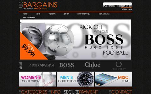Screenshot of Home Page urbargains.co.uk - UR Bargains - captured Sept. 30, 2014