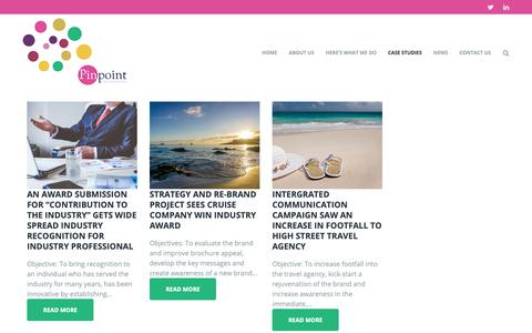 Screenshot of Case Studies Page pinpointcomms.com - Case Studies – Pinpoint Communications - captured Sept. 28, 2018