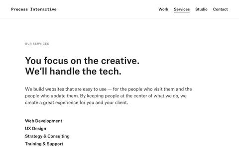Screenshot of Services Page processinteractive.com - Services | Process Interactive - captured Dec. 8, 2018