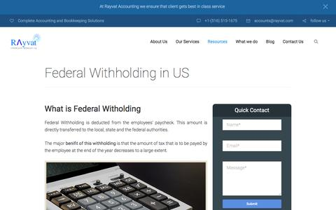 What is Federal Witholding? | Tax Withholding In The United States