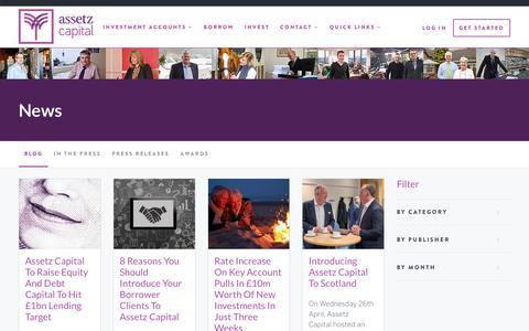 Screenshot of Blog Press Page assetzcapital.co.uk - Blog | Assetz Capital - captured May 31, 2017
