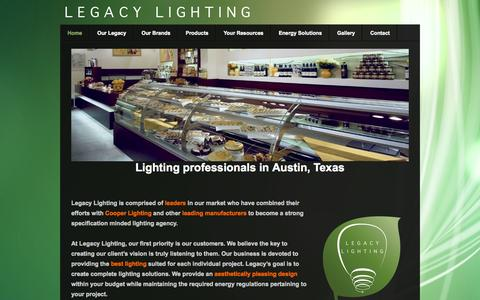 Screenshot of Home Page legacyltg.com - Lighting in Austin TX Legacy Lighting & Manufacturing Home Pages on Weebly | Website Inspiration and ...