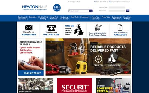 Screenshot of Home Page newtonhale.co.uk - Newton Hale - Independent Wholesalers - captured Aug. 15, 2015