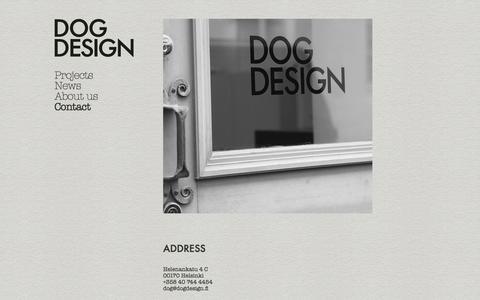 Screenshot of Contact Page dogdesign.fi - Contact / Dog Design - captured Aug. 2, 2016