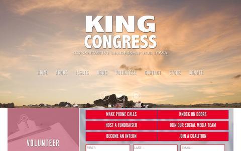 Screenshot of Home Page steveking.com - Home - Steve King for Congress - captured June 21, 2015