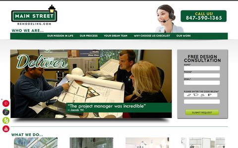 Screenshot of Home Page Site Map Page mainstreetremodeling.com - Main Street Remodeling | Sunrooms, Pergolas & Baths | Serving Chicagoland & Southeastern Wisconsin Home » Main Street Remodeling | Sunrooms, Pergolas & Baths | Serving Chicagoland & Southeastern Wisconsin - captured Sept. 30, 2014