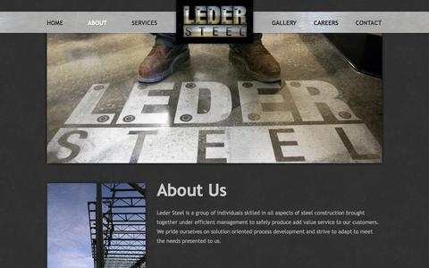 Screenshot of About Page ledersteel.com - About Us | LederSteel - captured Oct. 2, 2014