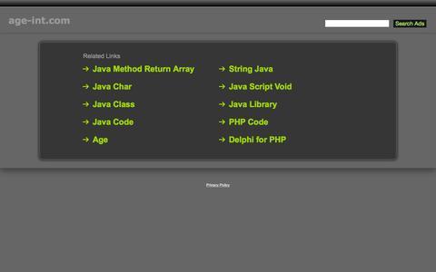 Screenshot of Home Page age-int.com - Age-Int.com - captured Sept. 11, 2015