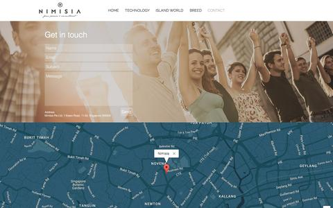 Screenshot of Contact Page nimisia.com - nimisia | CONTACT - captured Dec. 21, 2016