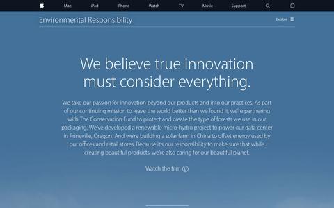 Screenshot of apple.com - Environment - Apple - captured March 19, 2016