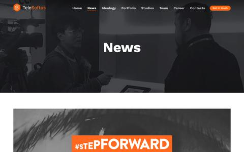 Screenshot of Press Page telesoftas.com - TeleSoftas News - captured Oct. 20, 2018