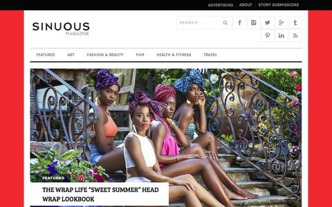Screenshot of Home Page sinuousmag.com - Home | Sinuous Magazine - captured July 5, 2017