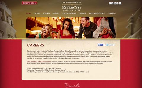 Screenshot of Jobs Page rivercity.com - Careers » River City - captured Oct. 7, 2014