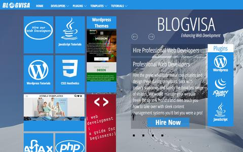 Screenshot of Developers Page blogvisa.com - Web Developers, Plugins, Templates and Tutorials | BlogVisa - captured June 1, 2017