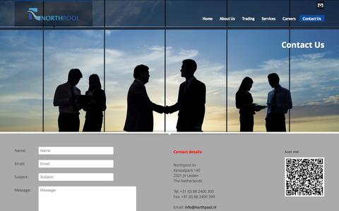 Screenshot of Contact Page northpool.nl - Northpool   Contact Us - captured Oct. 7, 2014