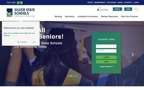 Silver State Schools Credit Union : Personal Checking, Saving, Loans & Investments | Silver State Schools Credit Union