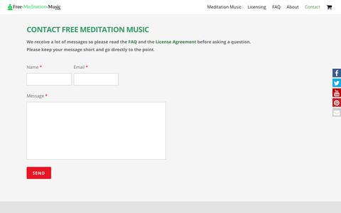 Screenshot of Contact Page free-meditation-music.com - Contact | Free Meditation Music - captured Oct. 31, 2017