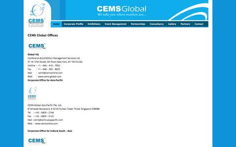 Screenshot of Contact Page cemsonline.com - cemsonline - captured July 8, 2017