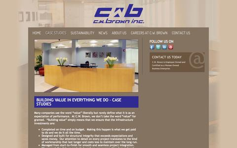 Screenshot of Case Studies Page cwbrown.net - Case Studies | C.W. Brown Inc. - captured Oct. 1, 2014