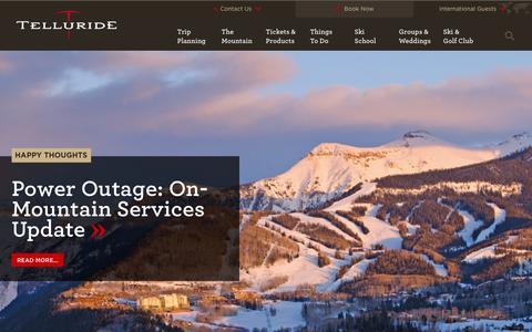 Screenshot of Blog tellurideskiresort.com - Blog | Telluride, Colorado - captured Feb. 16, 2016