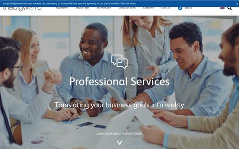 Professional Services - Solutions - thebigword