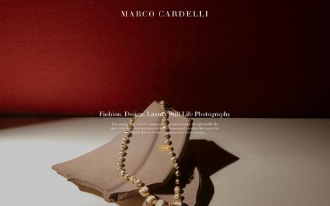 Screenshot of Home Page marcocardelli.com - Marco Cardelli Photographer - captured Sept. 20, 2018