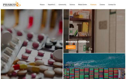 Screenshot of Products Page pharco.org - Pharco - captured Sept. 28, 2018
