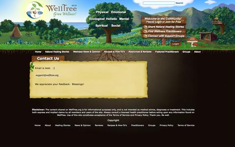 Screenshot of Contact Page welltree.org - Contact Us - WellTree - Grow Wellness! - captured Nov. 4, 2014