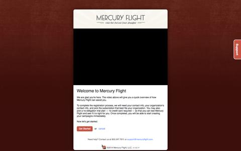 Screenshot of Signup Page mercuryflight.com - Register - captured Oct. 27, 2014