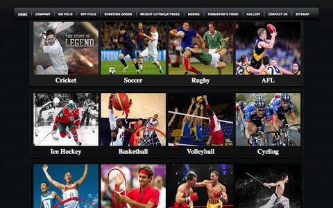 Screenshot of Home Page formativesports.com - Sports Uniforms Manufacturers,Custom Team Sportswear Suppliers - captured Oct. 6, 2014