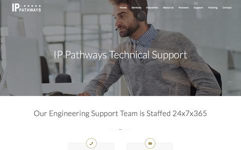 Screenshot of Support Page ippathways.com - Support | IP Pathways - captured July 10, 2016