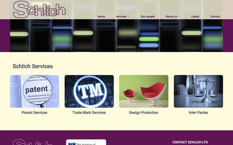 Screenshot of Services Page schlich.co.uk - Schlich Services - captured Feb. 4, 2016