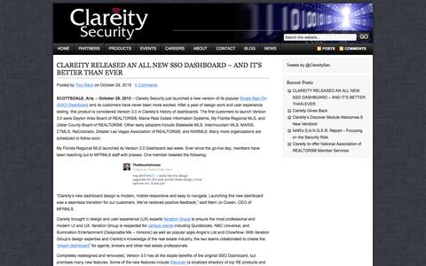 Screenshot of Press Page clareitysecurity.com - NEWS | Clareity Security - captured Dec. 9, 2015