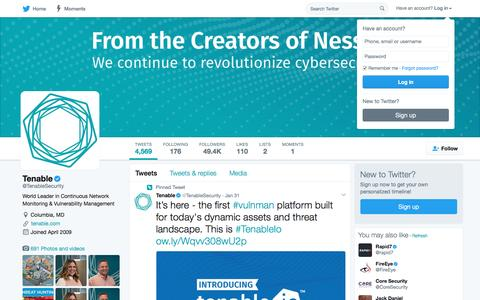 Tenable (@TenableSecurity) | Twitter