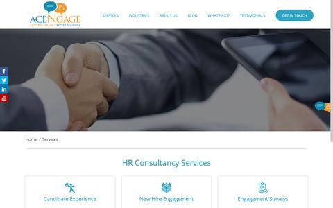 Screenshot of Services Page acengage.com - HR Consultancy Services | Top HR Consultants - captured Nov. 6, 2018