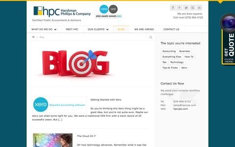 Screenshot of Blog hpccpa.com - Tech-Driven Accounting/CPA Firm - Cloud Accounting Services - captured Oct. 1, 2014