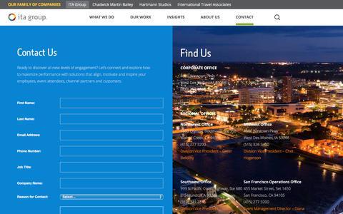 Screenshot of Contact Page itagroup.com - Contact Us | ITA Group - captured Aug. 13, 2019