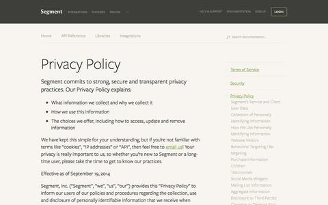 Privacy Policy - Segment