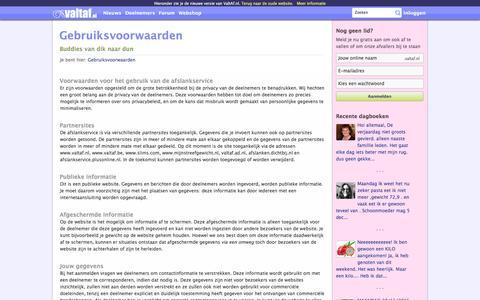 Screenshot of Terms Page valtaf.nl - Gebruiksvoorwaarden - captured Nov. 28, 2016
