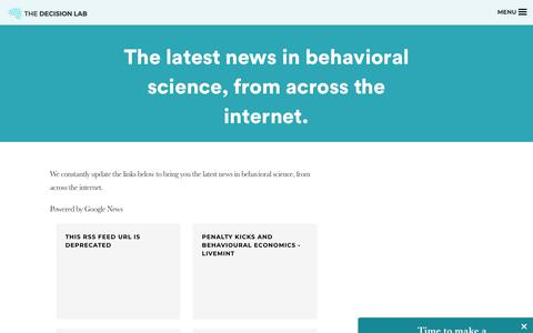 Screenshot of Press Page thedecisionlab.com - Behavioral Science News | The Decision Lab - captured July 8, 2018